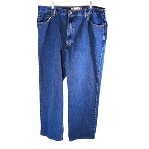Levi's 550 Relaxed Fit Blue Jeans Size 42x30
